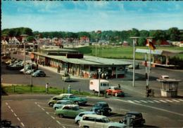!  Ansichtskarte Flensburg, Grenze, Autos, Cars, Voitures, VW Käfer, DKW Mit Wohnwagen - PKW