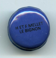 FEVES - FEVE PERSO -  MACARON BLEU - BOULANGERIE H. ET F. MELLET - LE BIGNON (44) - Altri