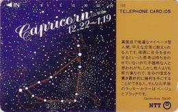 Télécarte Japon / NTT 291-096 - ZODIAQUE Série G. Sarah / CAPRICORNE - ZODIAC HOROSCOPE Japan Phonecard - 1061 - Japón