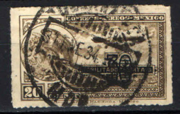 MESSICO - 1932 - Coat Of Arms And Airplane - Overprinted - USATO - Messico