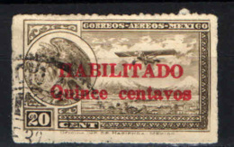 MESSICO - 1931 - Coat Of Arms And Airplane - Overprinted - USATO - Messico