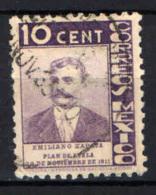 MESSICO - 1935 - Emiliano Zapata - USATO - Messico