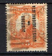 MESSICO - 1914 - Miguel Hidalgo Con Sovrastampa - Overprinted - USATO - Messico