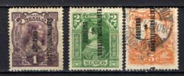 MESSICO - 1914 - Josefa Ortiz, Leona Vicario, Miguel Hidalgo Con Sovrastampa - Overprinted - USATI - Messico