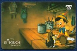 BELGIUM - BELGIQUE IN TOUCH TELECOM 20 UNITS PRE-PAID PHONECARD TELECARTE DISNEY PINOCCHIO PERFECT USED - Disney