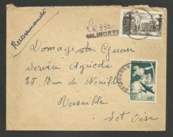 GARD / Recommandé Provisoire SALINDRES 12.01.1949 / P.A. 17 & 25F Nancy - Marcophilie (Lettres)