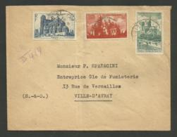 ST CLOUD / Recommandé Provisoire  03.09.1948 / Surtaxés Cathédrales - Marcophilie (Lettres)