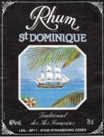 ETIQUETTE RHUM TRADITIONNEL ST DOMINIQUE DES ILES FRANCAISES 1L 40° - Rhum