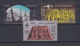 Ägypten / Egypt 1963 Al-Azhar Moschee / Abu Simbel Mi.-Nr. 708-10 Satz 3 W. ** - Non Classés