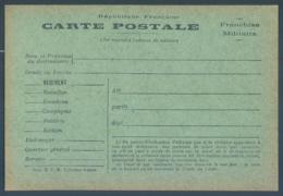 Carte Postale Franchise Militaire - Weltkrieg 1914-18