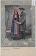 Gruss Aus Aus Schaumburg - Lippe Volkstrachten - Photo: F.W. Kuhlmann - Handcoloriert Ca. 1900 - Schaumburg