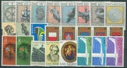 SAN MARINO - 1974 - Annata Completa + Posta Aerea - 24 Valori - Year Complete ** MNH/VF - Saint-Marin