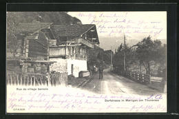AK Merligen Am Thunersee, Drofstrasse Mit Mann - BE Berne