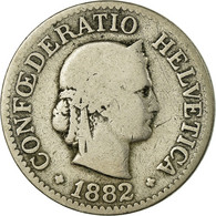 Monnaie, Suisse, 10 Rappen, 1882, Bern, TB, Copper-nickel, KM:27 - Suisse