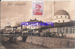 119615 SERBIA BITOLJ STREET VIEW PARTIAL TAXADA CIRCULATED TO SPAIN POSTAL POSTCARD - Serbia