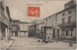 CPA SAINT PERAY   PLACE DE LA POMPE - Saint Péray