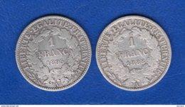 2  Pieces  De  1  Fr - France