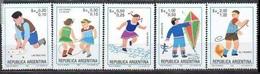 1983 Argentina Juegos Infantiles 5v. Serie Completa Mint. - Giochi