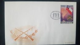O) 1981 CHILE, CONGRESS OF SOUTH AMERICAN UNIFORMED POLICE - SC 604, FDC XF - Chile