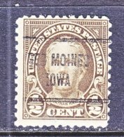U.S. 653    Perf. 11 X 10 1/2   *   IOWA  STATE   1929  Issue - Precancels