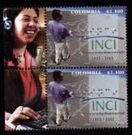A101- COLOMBIA- KOLUMBIEN- 2008 - MNH - 50 YEARS OF THE NATIONAL INSTITUTE FOR THE BLIND. BRAILLE PRINTING- WOMAN LABEL - Colombie