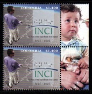 A113- COLOMBIA- KOLUMBIEN- 2008 - MNH - 50 YEARS OF THE NATIONAL INSTITUTE FOR THE BLIND. BRAILLE PRINTING- BOY LABEL - Colombie
