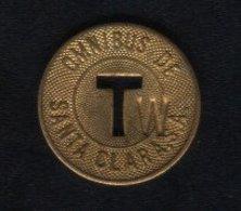 Caribe  / Cuba TOKEN OMNIBUS DE SANTA CLARA .S.A. T Letter W Brass 23 Mm - Tokens & Medals