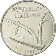Monnaie, Italie, 10 Lire, 1982, Rome, TTB, Aluminium, KM:93 - 1946-… : République