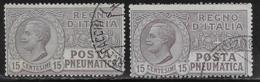 Italy Scott # D2, D2a Used Posta Pneumatica, CV$45.00 - 1900-44 Vittorio Emanuele III