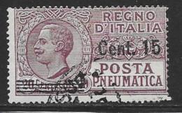 Italy Scott # D10 Used Posta Pneumatica, Surcharged, CV$72.50 - 1900-44 Vittorio Emanuele III