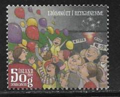 Iceland Scott # 1343 Used Night Of Lights, 2014 - 1944-... Republic