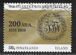 Iceland Scott # 1396 Used Literary Society, 2016 - 1944-... Republic