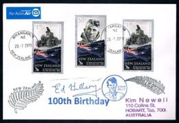 NEW ZEALAND • 2019 • Airmail Cover To Tasmania • Edmund Hillary 100th Birthday - Nuova Zelanda