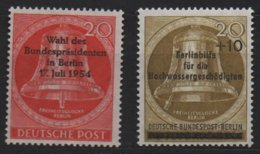 Berlin 1954/6 Election Overprint & Flooding, MNH ** Mi 118 & 155 (Ref: 1515) - [5] Berlin