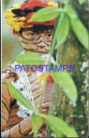 119625 EQUATOR ECUADOR PUYO COSTUMES NATIVE BOY NIÑO DE LA TRIBU DE LOS JIVAROS POSTAL POSTCARD - Ecuador