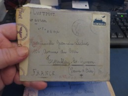 LOT D'ENVIRON 10 Lettres MILITARIA, De CENSURE 1939/1945 Et Assimilées Guerre ,certaines Avec Contenue - Timbres