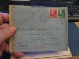 LOT D'ENVIRON 10 Lettres MILITARIA, De CENSURE 1939/1945 Et Assimilées Guerre ,certaines Avec Contenue - Poststempel (Briefe)