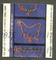 Sc. #1615c Cinema In Canada, Hen Hop Used  1996 K123 - 1952-.... Règne D'Elizabeth II