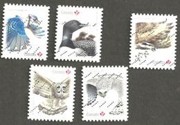 Sc # 3018-22 Birds Of Canada Booklet Set Used 2017 K194 - 1952-.... Règne D'Elizabeth II