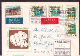 Finlande - 1973 - Lettre - Envoyé En Israël - Briefe U. Dokumente
