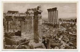 CPSM - BAALBEK (Liban) - Temple De Jupiter Et Temple De Bacchus - Libano