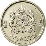 Monnaie, Maroc, Mohammed VI, 1/2 Dirham, 2002/AH1423, Paris, SUP, Copper-nickel - Maroc