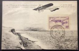 CM30 Carte Maximum PA 7 Aviation Le Blériot Traversée Manche Exposition 1937 Paris Tourisme - 1930-39