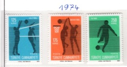SPORT - OLYMPIC GAMES - 1974 - TURCHIA -  Mi. Nr.  2344/46 - NH - (6532-46) - 1921-... República