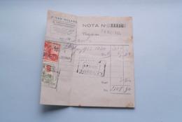 F. Van NULAND WISSELAGENT BORGERHOUT Antwerpen > Anno 1934 ( Zie Foto's ) 1 Stuk ! - Bank & Insurance
