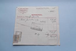 F. Van NULAND WISSELAGENT BORGERHOUT Antwerpen > BORDEREEL Anno 1925 ( Zie Foto's ) 1 Stuk ! - Banca & Assicurazione