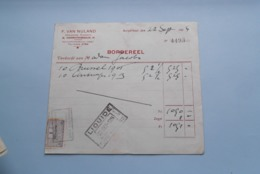 F. Van NULAND WISSELAGENT BORGERHOUT Antwerpen > BORDEREEL Anno 1924 ( Zie Foto's ) 1 Stuk ! - Banca & Assicurazione