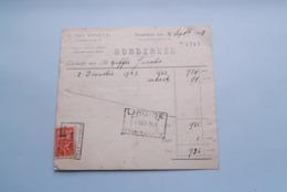 F. Van NULAND WISSELAGENT BORGERHOUT Antwerpen > BORDEREEL Anno 1928 ( Zie Foto's ) 1 Stuk ! - Banque & Assurance