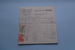F. Van NULAND WISSELAGENT BORGERHOUT Antwerpen > Nota Anno 1934 ( Zie Foto's ) 1 Stuk ! - Banque & Assurance