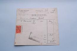 F. Van NULAND WISSELAGENT BORGERHOUT Antwerpen > BORDEREEL Anno 1929 ( Zie Foto's ) 1 Stuk ! - Banque & Assurance